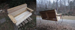 swingchair 300x119 Recycling Business Ideas   Wood Pallets